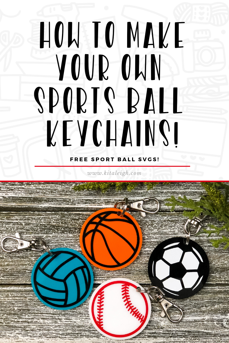 How To Make Sports Ball Keychains Diy Keychain Acrylic Keychains Cricut Projects Beginner