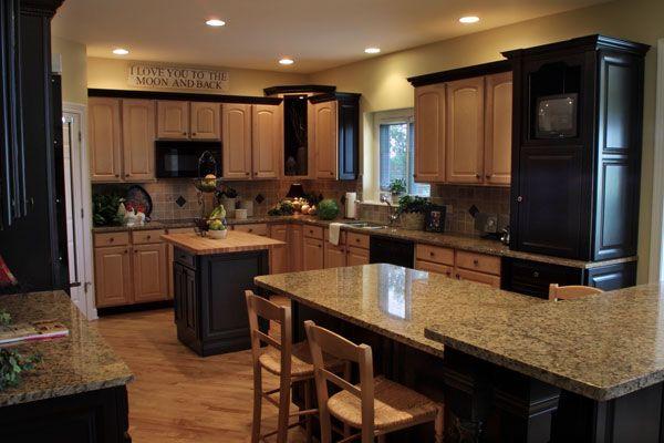 Light Kitchen Cabinets Black Appliances Site Pinterest Com