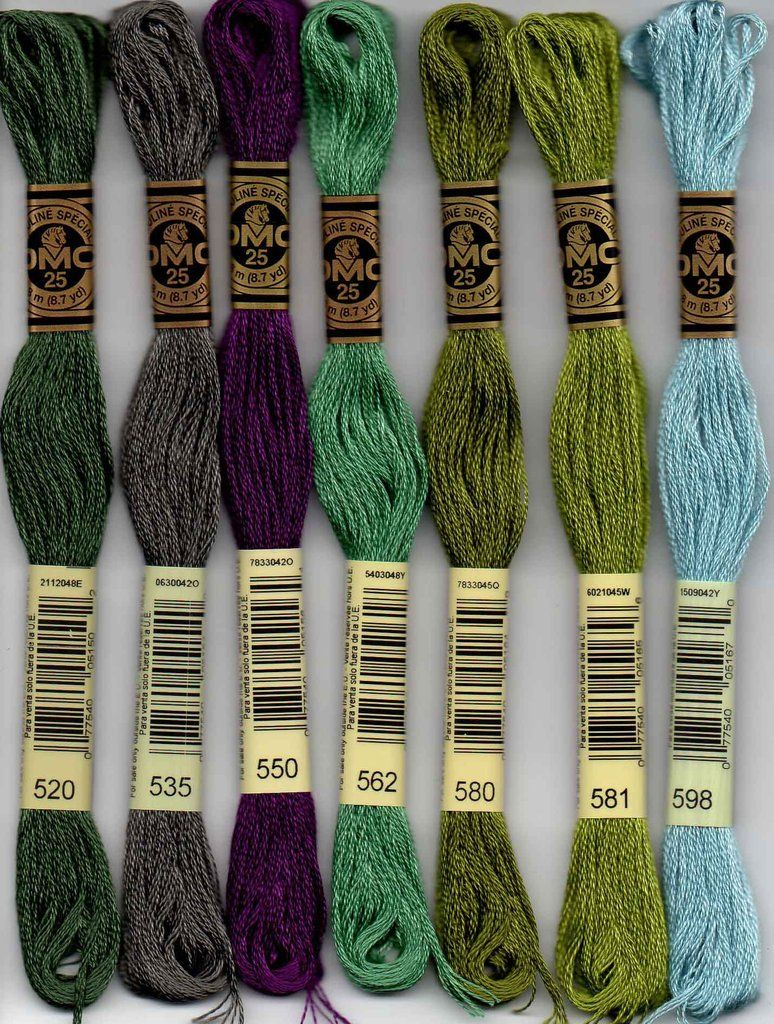 Colour 522 Fern Green DMC Stranded Cotton Embroidery Floss