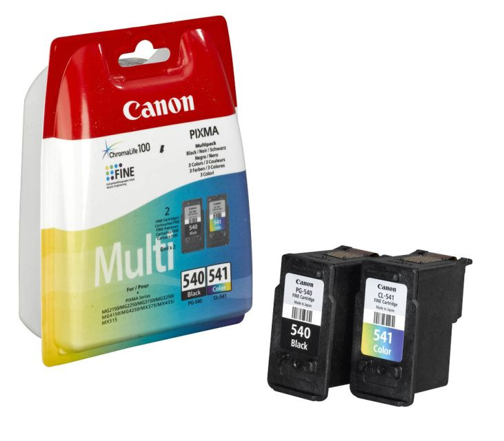 Canon Pg 540 Cl 541 Range Oem Canon Cartridge Printer