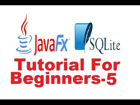 JavaFx Sqlite Database Tutorial 5 - How to show and hide a window in