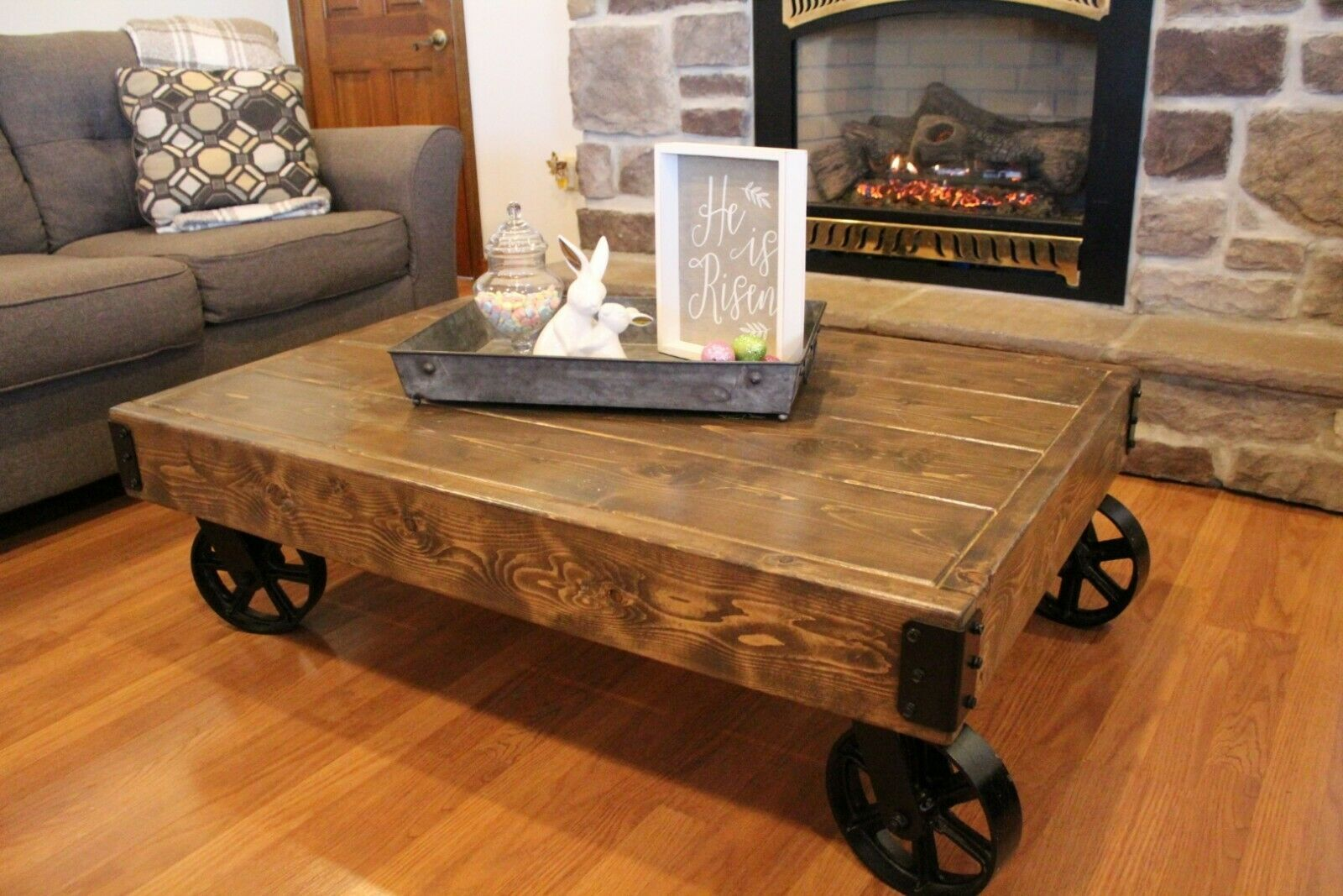 Coffee Table With Iron Caster Wheels Rustic Cart Vintage Design Wood Rustic Table Ideas Of Rustic Table Coffee Table Rustic Table Extendable Coffee Table Rustic coffee table with wheels