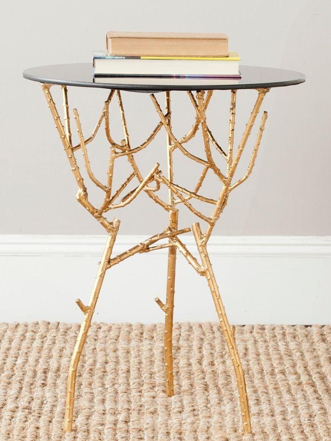 1e6358e15f14 Safavieh Tara Gold Side Table