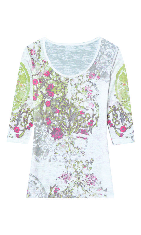 de942bf8635681 Aventura Tierney 3 4 Sleeve - White available at Lu Anders Boutique or  online at
