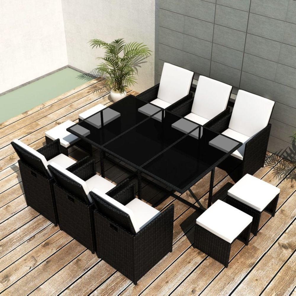 Patio Furniture Dining Set Outdoor Wicker Rattan 11 Pc Garden Table And Chairs Patiofurni Patio Dining Furniture Dining Furniture Sets Rattan Garden Furniture