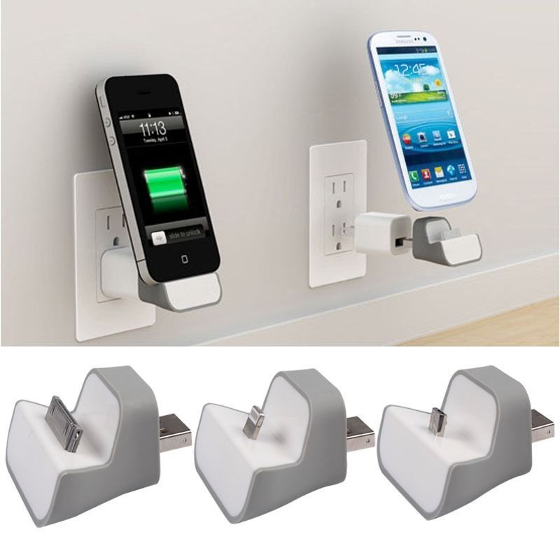 Home Wall Travel Charger Docking Station For iPhone4 5 Samsung ...