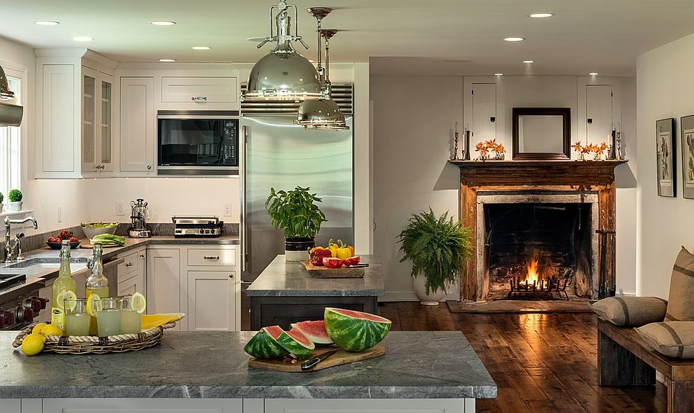 Hot Trends Give Your Kitchen A Sizzling Makeover With Fireplace