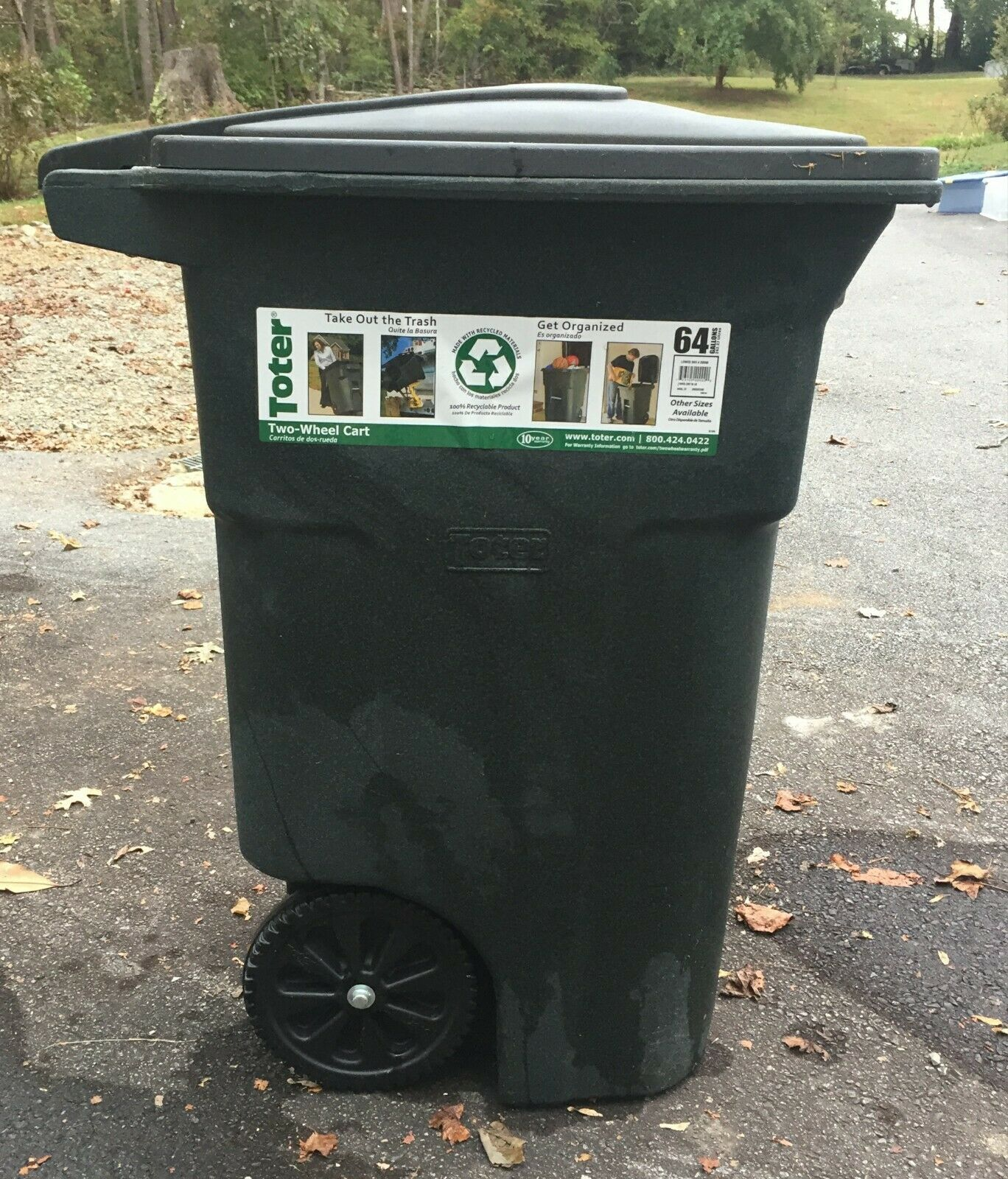Garbage Can Garbage Can Ideas Garbage Can Garbagecan 64 Gallon Residential Curbside Trash Can Cart Rolling Garba Garbage Can Garbage Bin Garbage
