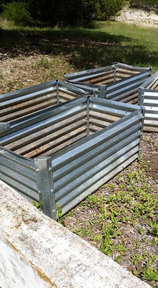 Sheet Metal Raised Bed Planter Boxes Veggie Garden Raised