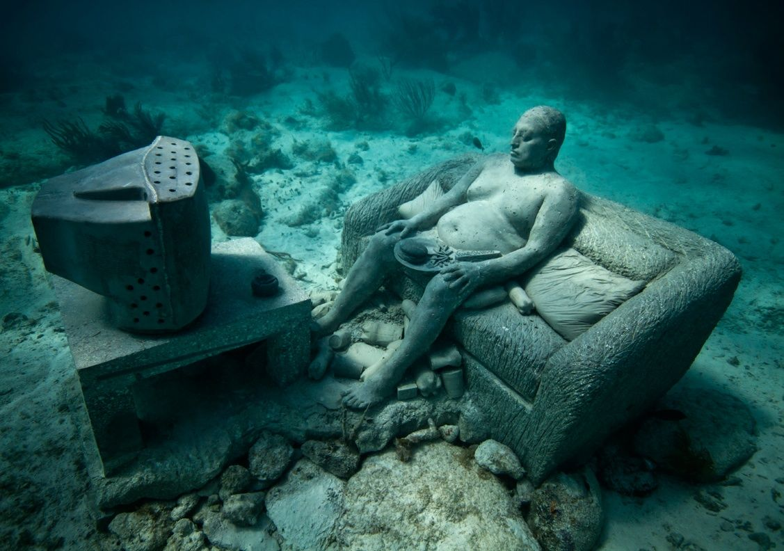 Jason decaires taylor- protecting a promoting coral growth with these amazing underwater sculptures