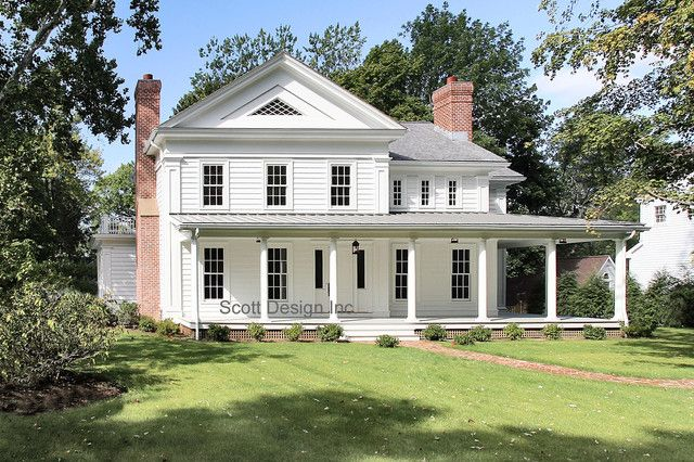 New 1850s Greek Revival Farmhouse Farmhouse Exterior new