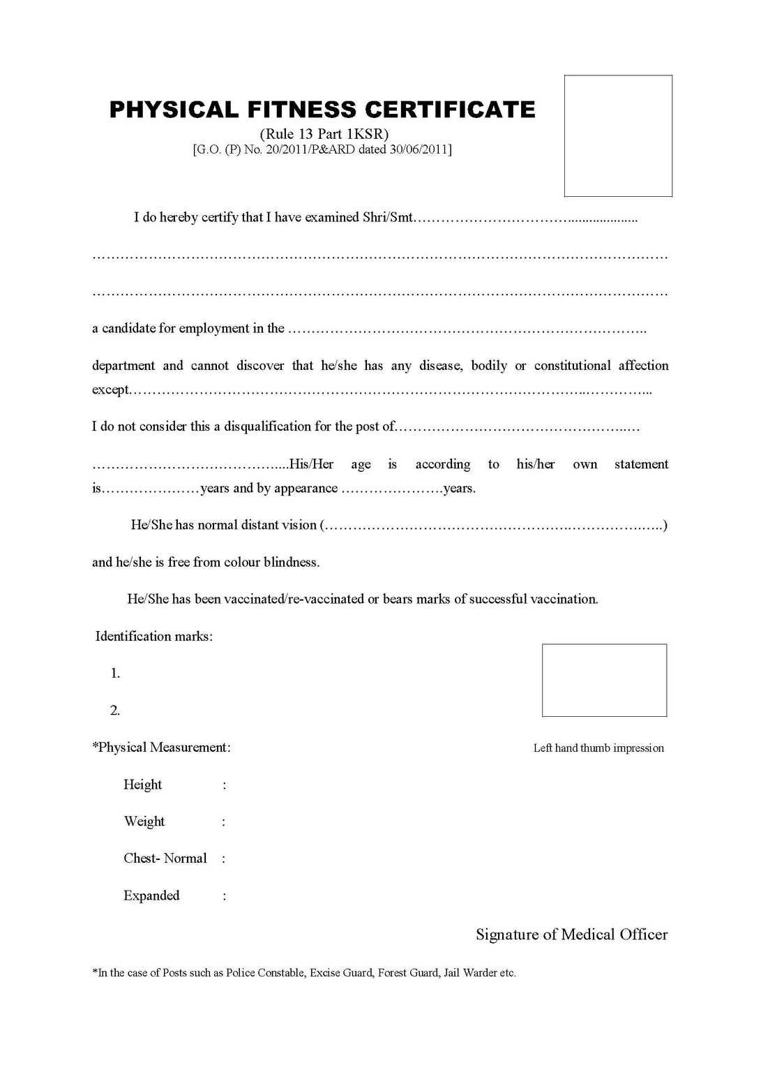 Image Result For Physical Fitness Certificate Format