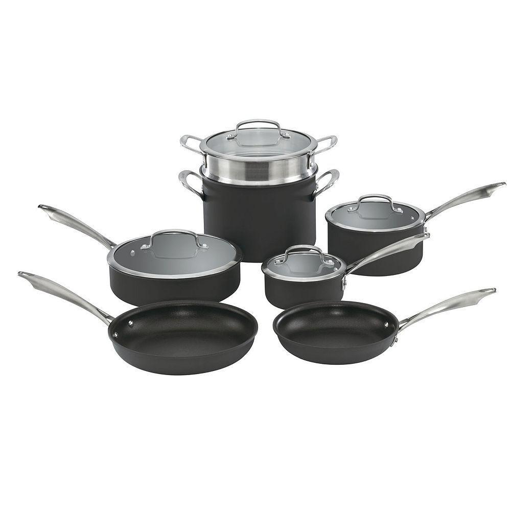 Cuisinart 11pc hardanodized nonstick cookware set