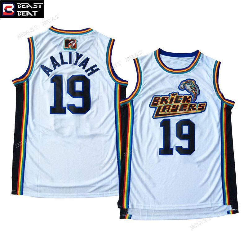 Aaliyah 19 Bricklayers Basketball Jersey Throwback Cheap Original Nba Jerseys Basketball Jersey Athletic Outfits Jersey Outfit
