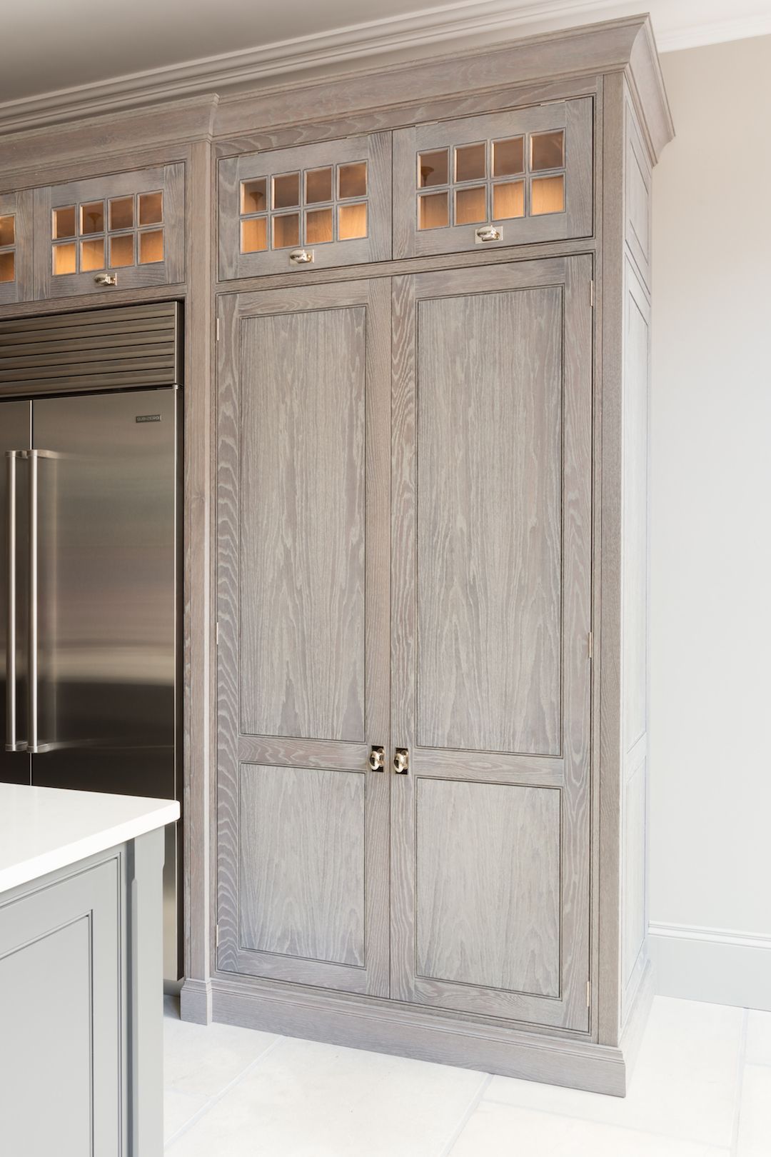 The Day Pantry In The St Albans Showroom Has Been Finished In Smithfield Oak And Has Spice Racks Stained Kitchen Cabinets Kitchen Remodel Small Dream Kitchen