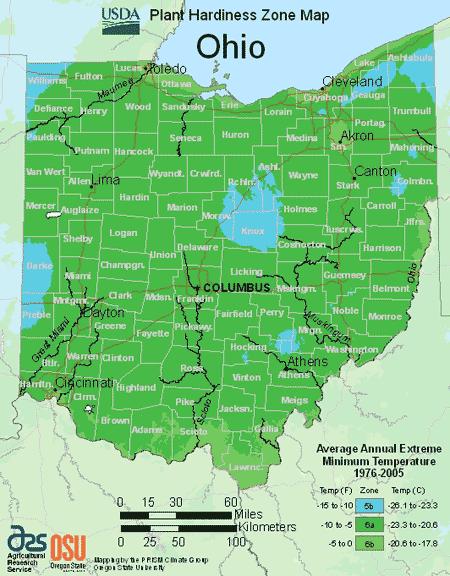 Ohio Planting Zones Usda Map Of Ohio Growing Zones With Images