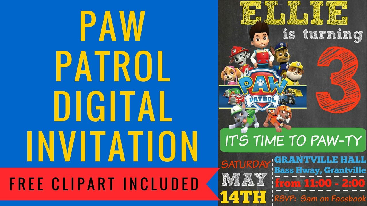 how to make a paw patrol digital invitation birthday paw patrol