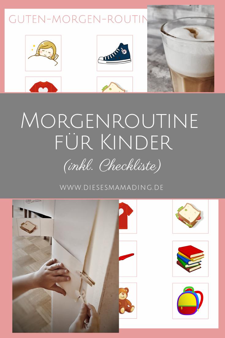 Morgenroutine Für Kinder Mit Guten Morgen Checkliste