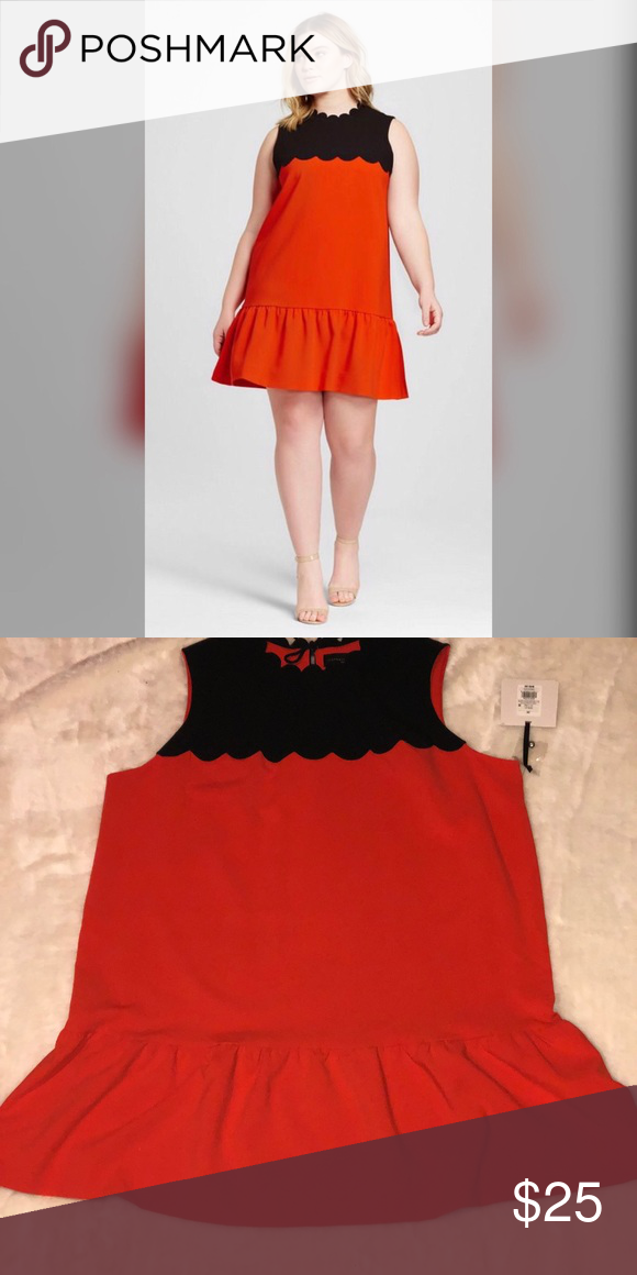 f32142adae Victoria Beckham x Target orange and black dress. 64% polyester 30%rayon  6%rayon Never worn Brand New with tags Victoria Beckham for Target Dresses  Mini