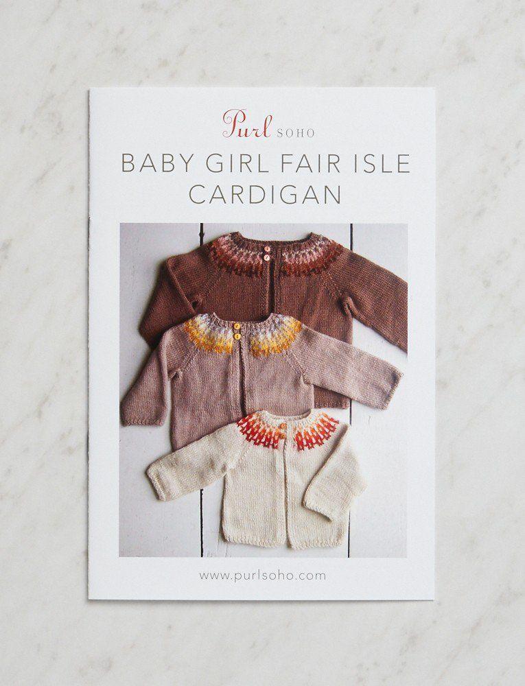 Baby Girl Fair Isle Cardigan Pattern | Knitting | Pinterest | Dos ...