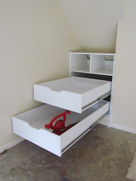 The kids will have odd shaped closets Long drawers for slanted