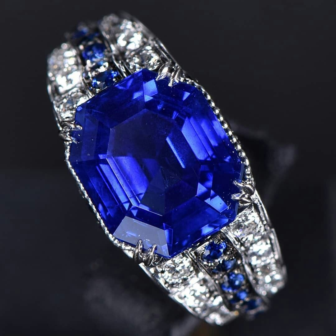 blue boodles main ring ceylon deco the sapphire deep