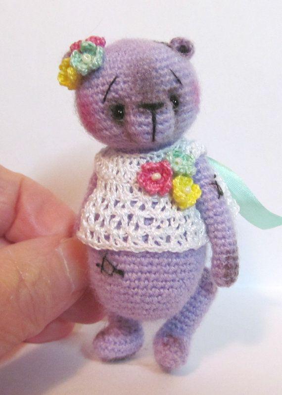 Miniature Thread Artist Crochet Teddy Bear pattern ♡ by BayouBears ...