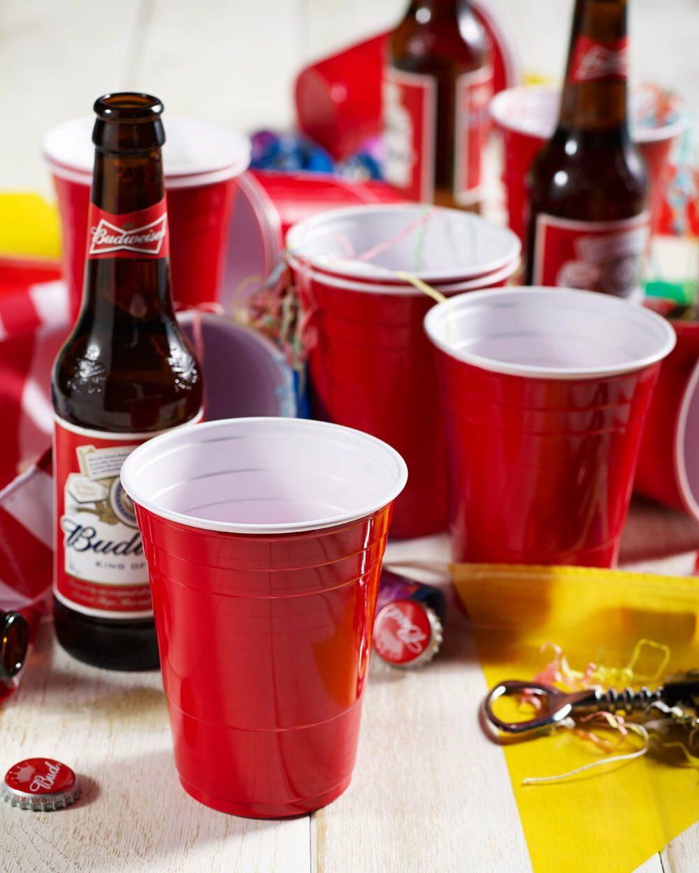 American 16oz Plastic Red Party Cups Beer Pong Disposable 50 100 1000 Ebay Party Cups Red Party Party Tableware