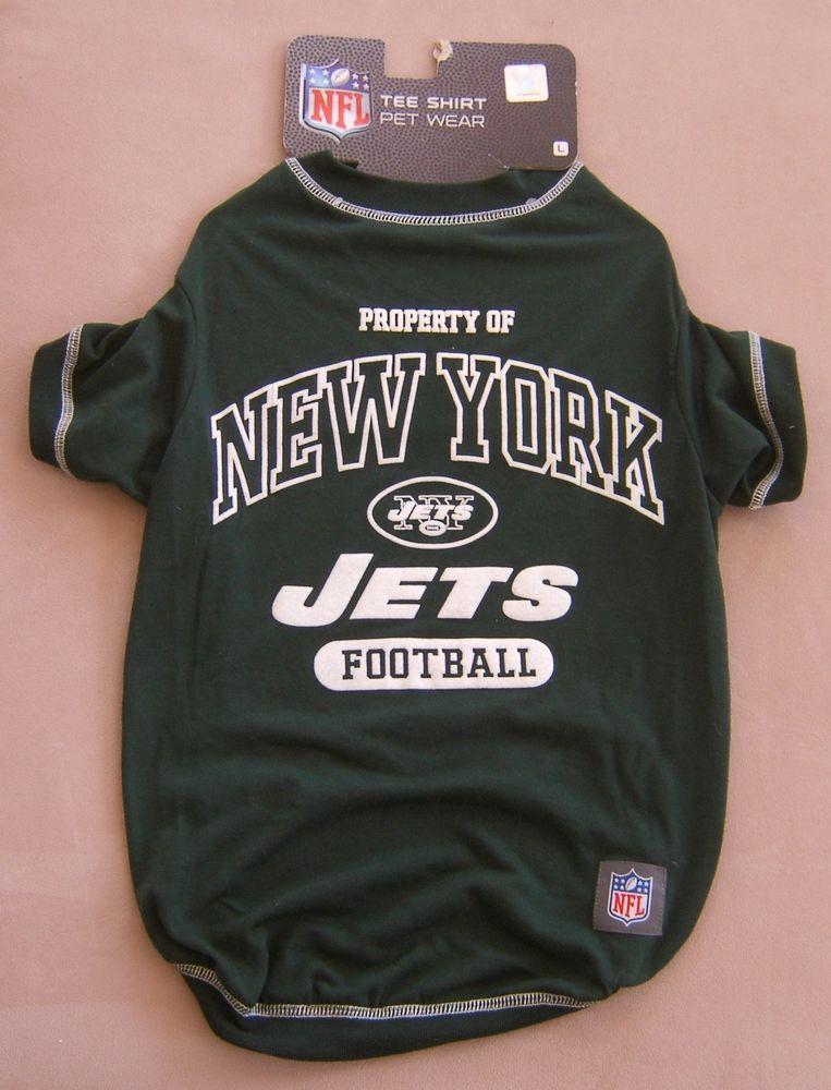 NFL Football Dog T Shirt New York Jets Size L Sports Halloween Costume Dress  Pet  PetsFirst 55a7bf0b1