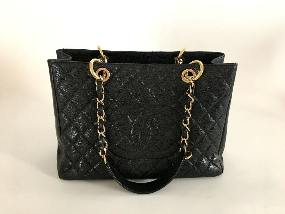 Chanel black caviar gst shopping tote ghw wauthenticity