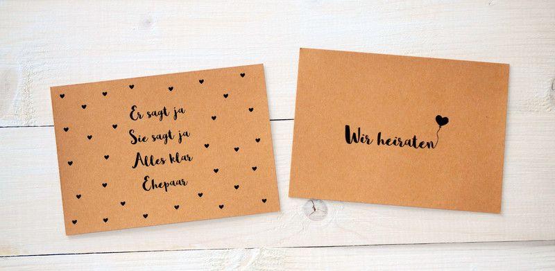 Einladungskarten - 20 Einladungen zur Hochzeit + indiv. Text/ Design - ein Designerstück von Blattwerk-Shop bei DaWanda
