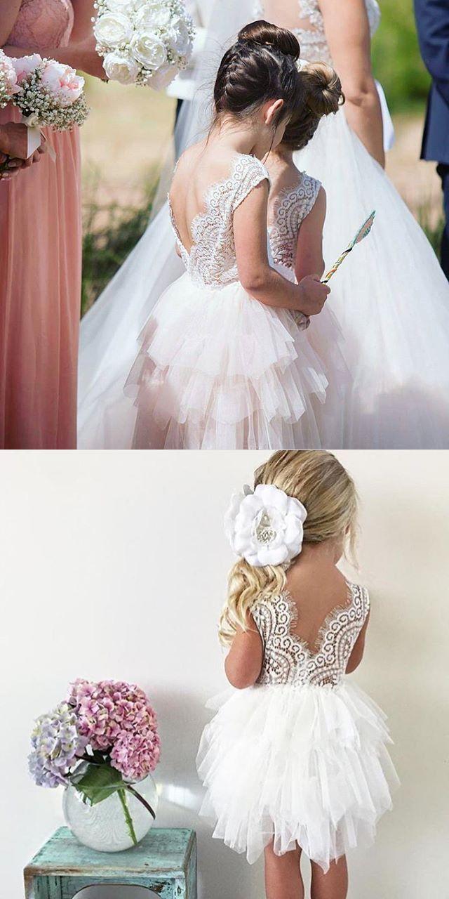 Cute A Line Short White Flower Girl Dress Pinterest Flower Girl