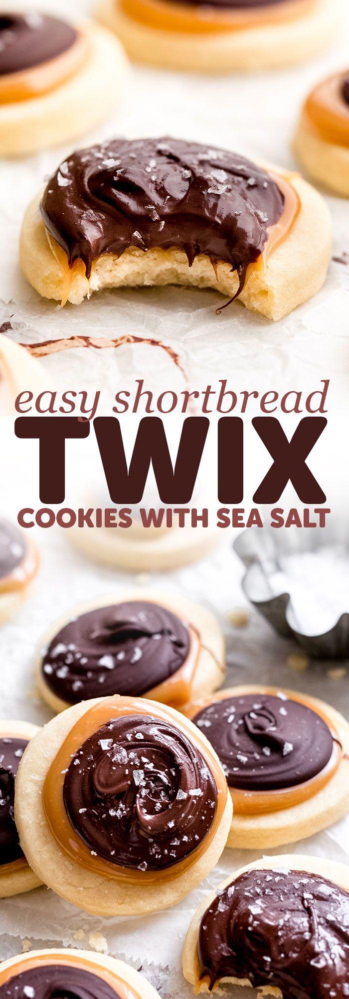 Easy Shortbread Twix Cookies Recipe | Little Spice Jar #twixcookies