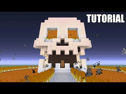 Minecraft Tutorial How To Make A Skull Survival House Ash 42