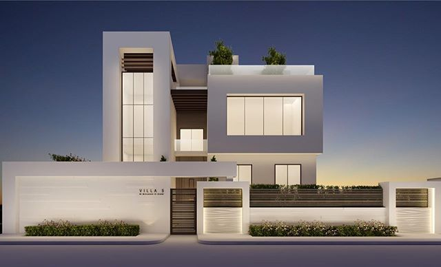 Modern architecture design by ions design dubai uae for Modern house uae