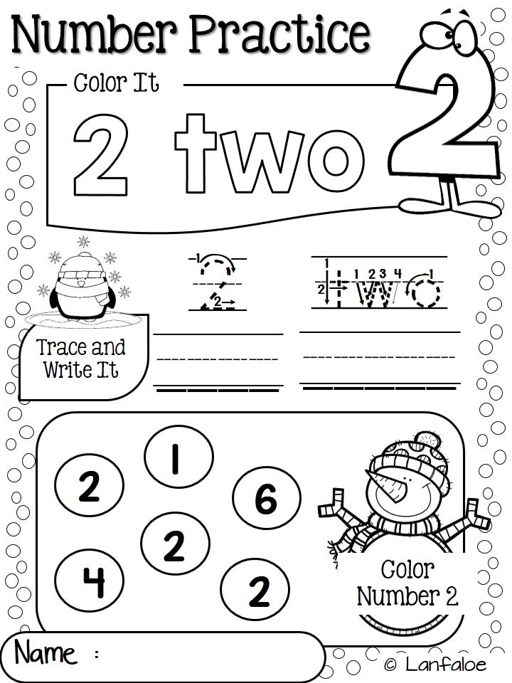 Number Worksheet 1 20 Winter Activity Lanfaloe Product Pinterest