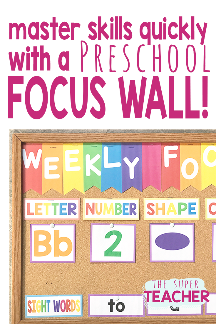 Try Using A Focus Wall In Your Preschool Classroom To Make Group Time Fun And Effective This Focus Wall H Focus Wall Preschool Classroom Preschool Circle Time