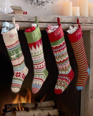 Garnet+Hill+Fair+Isle+Woolen+Stocking | Christmas | Pinterest ...
