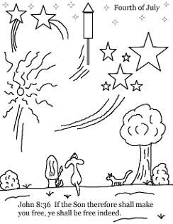 Fourth of July Sunday School Lesson For Kdis- Coloring Page ...