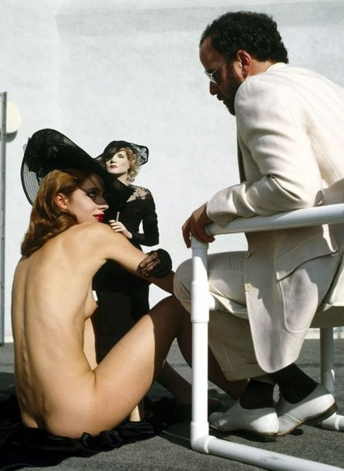 Nastassja kinski with marlene dietrich Doll-Helmut Newton Photo