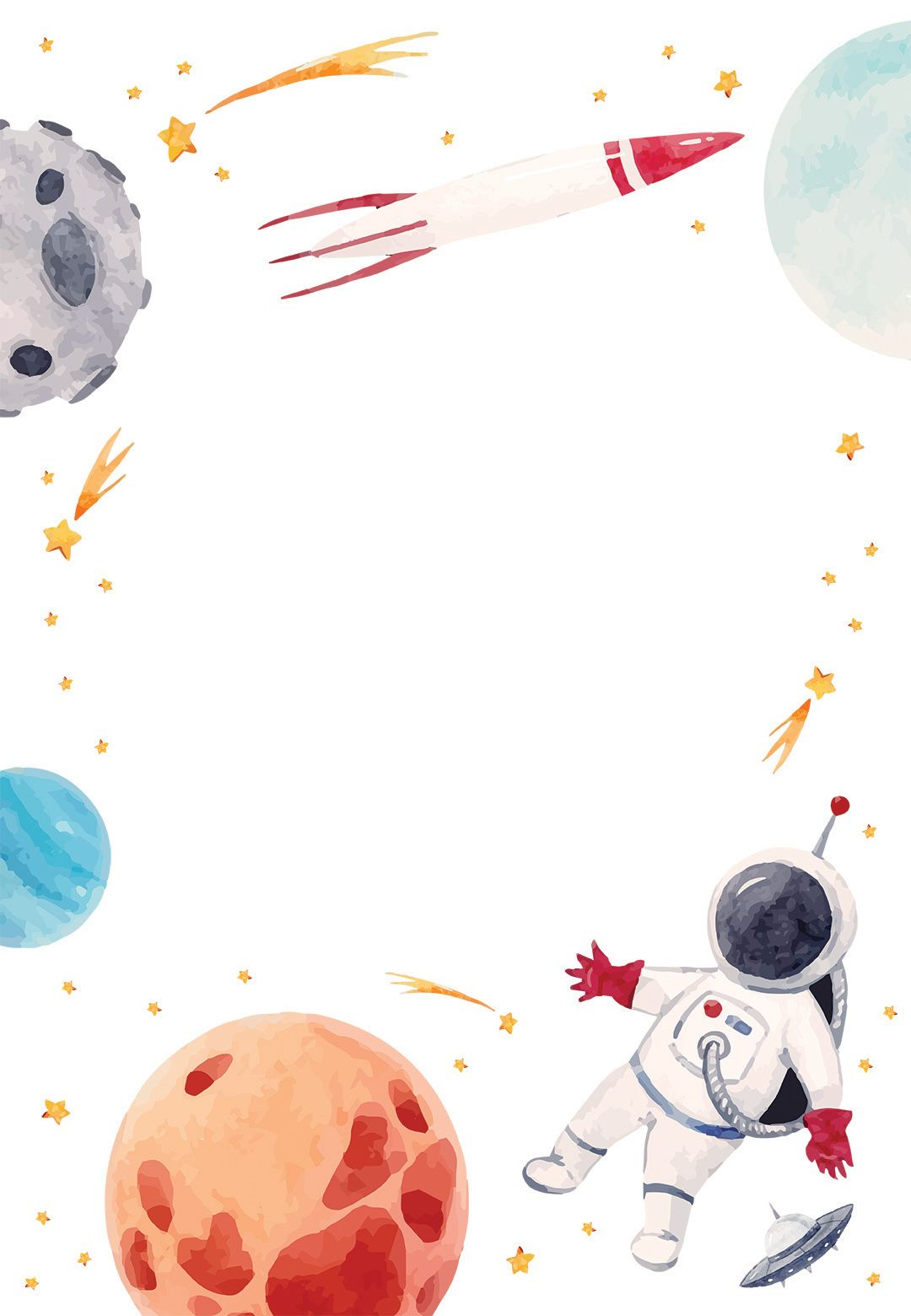 Outer Space - Birthday Invitation Template | Greet