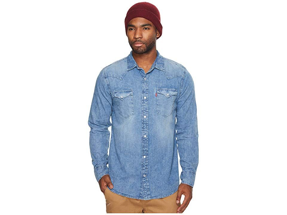 e695b06775 Levi s(r) Standard Barstow Western Shirt (Acid Wash) Men s Long Sleeve  Button