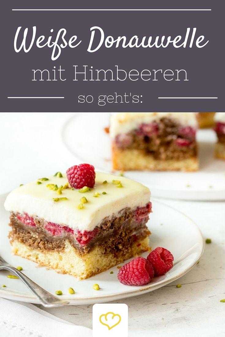 Schicke Schnitte Weisse Donauwelle Mit Himbeeren Rezept Kuchen Ohne Backen Kuchen Und Torten Susses Backen