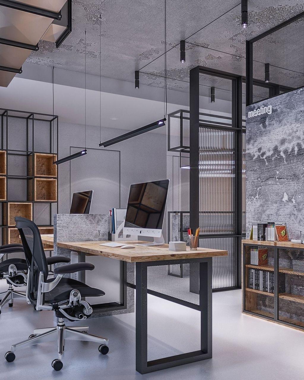 30 Brilliant Industrial Office Design Ideas Industrial Office