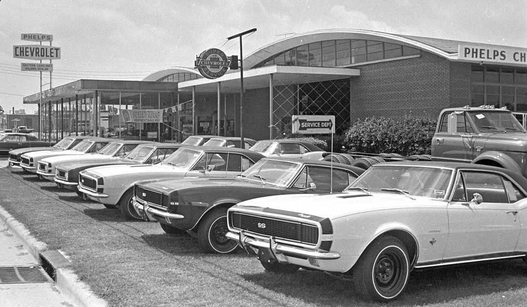 Phelps Chevrolet Lineup of the First Year 1967 Camaros
