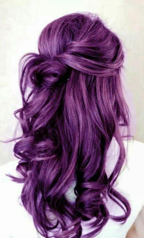 Lila Haare Interessantes Bild Weisser Hintergrund Haare Farben