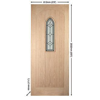 Jeld-Wen Fenchurch Glazed Exterior Door Oak Veneer Non-Handed White Oak Veneer 813 x 2032mm   Timber Doors   Screwfix.com  sc 1 st  Pinterest & Jeld-Wen Fenchurch Glazed Exterior Door Oak Veneer Non-Handed White ...