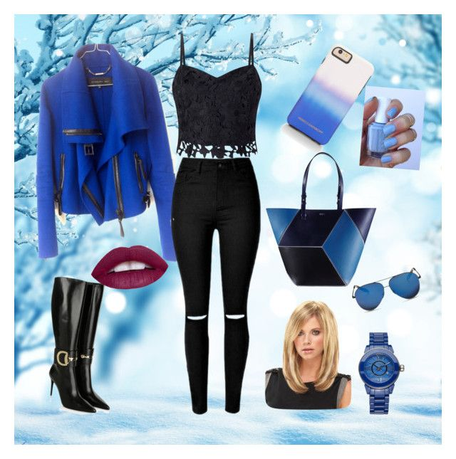 """""""sexy winter look"""" by shana-lodhi-pashtun on Polyvore featuring Barbara Bui, Gucci, Lipsy, Victoria Beckham, Rebecca Minkoff, Isaac Mizrahi and Essie"""