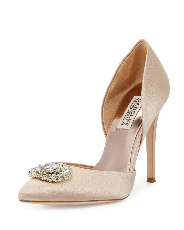Womens Shoes Badgley Mischka Roudy Nude Satin