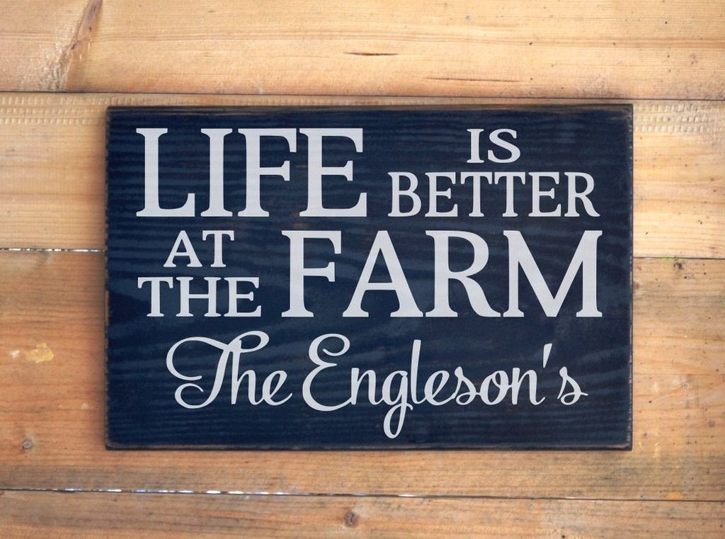 Barn Signs Decor Personalized Farm Signs Farm House Decor Ranch Country Gift Life